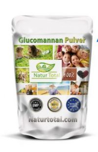 konjak-extrakt glucomannan pulver