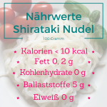 Nährwerte Shirataki Nudeln