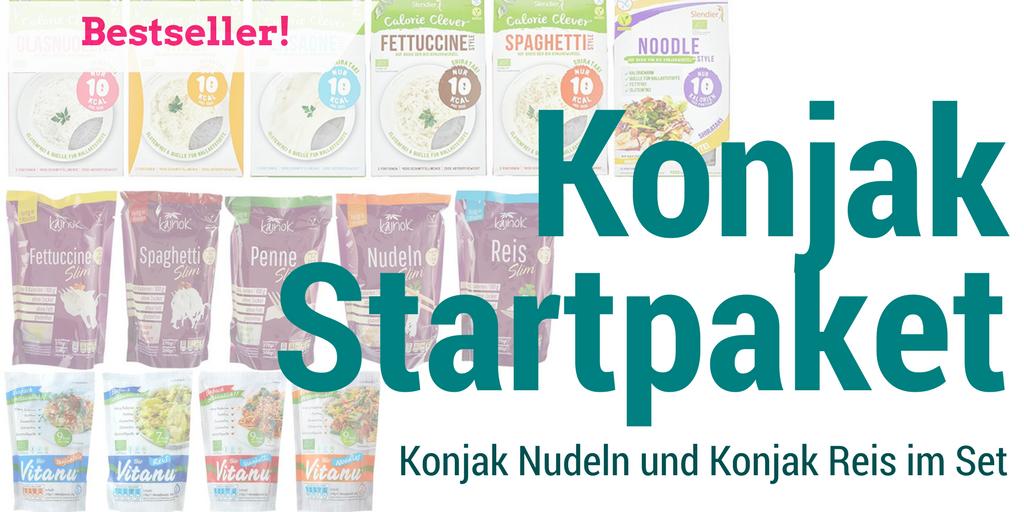 Konjak Produkte im Startpaket