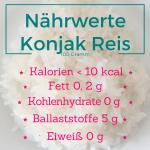 Nährwerte Konjak Reis