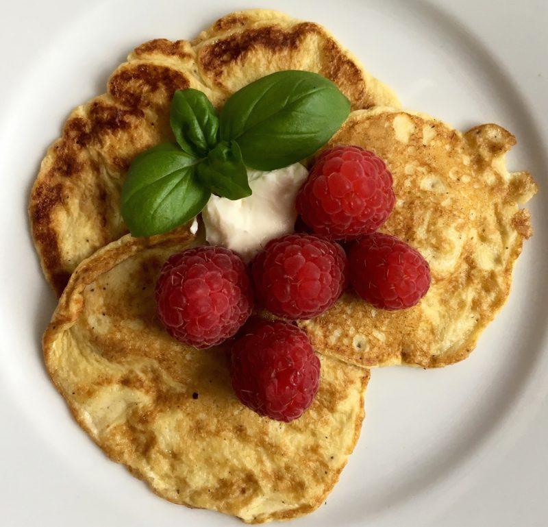 Süße LowCarb Pfannkuchen