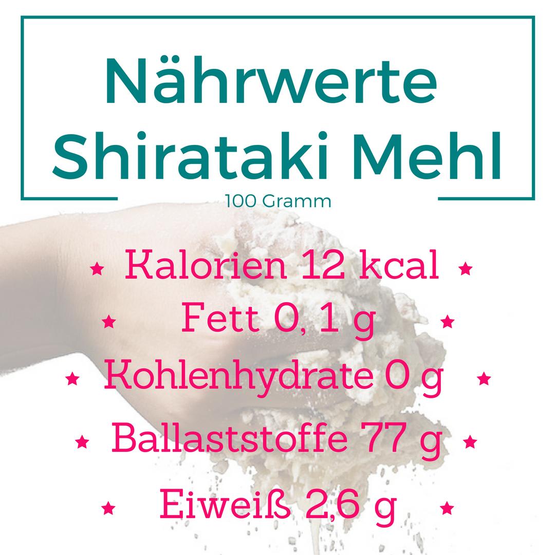Nährwerte Shirataki Mehl