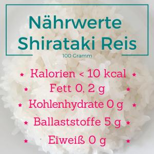 Nährwerte Shirataki Reis