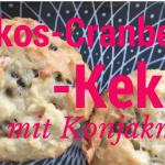 kekse backen mit konjakmehl